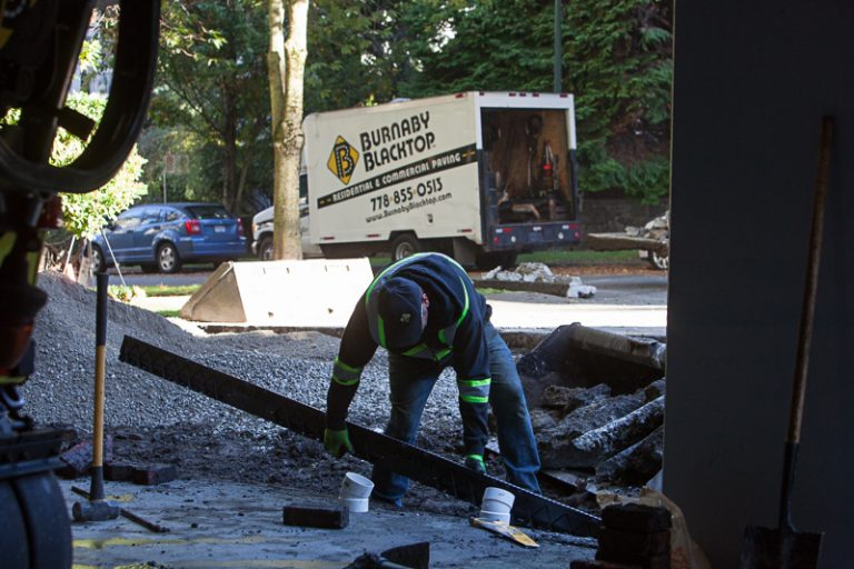 burnaby blacktop residential renovation