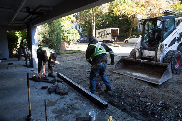 residential driveway renovation