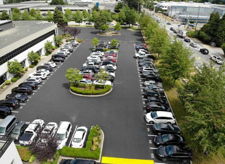 parking lot seal coating project by Burnaby Blacktop