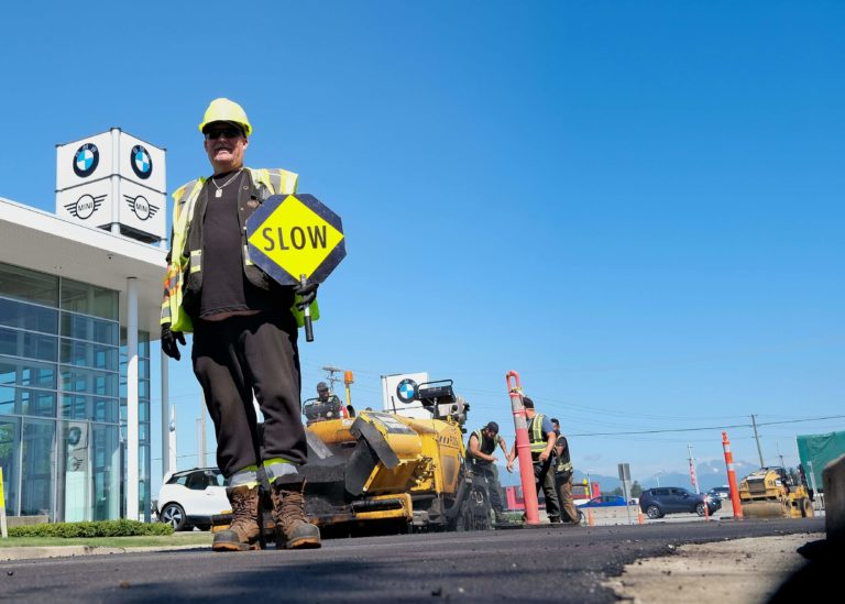 ralf, paving contractor, during a municipal paving project