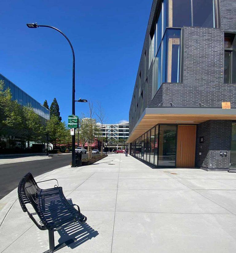 north vancouver concrete paving project