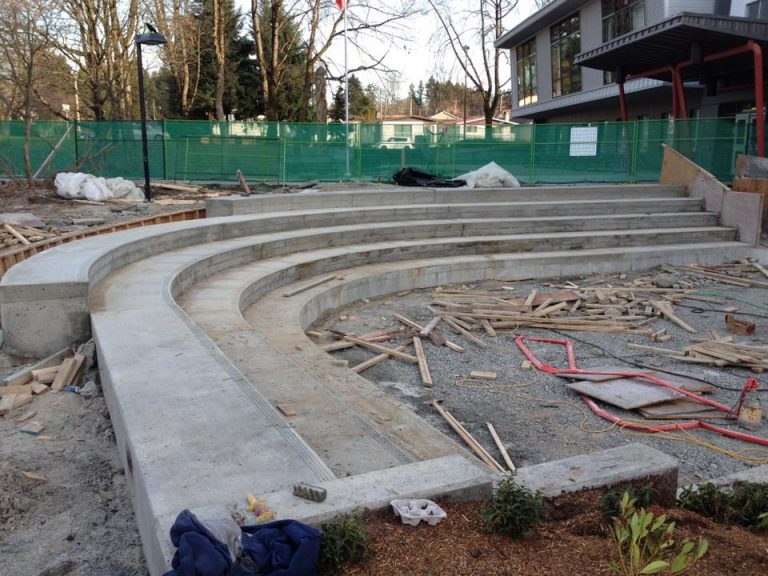 bench seats made from architectural concrete