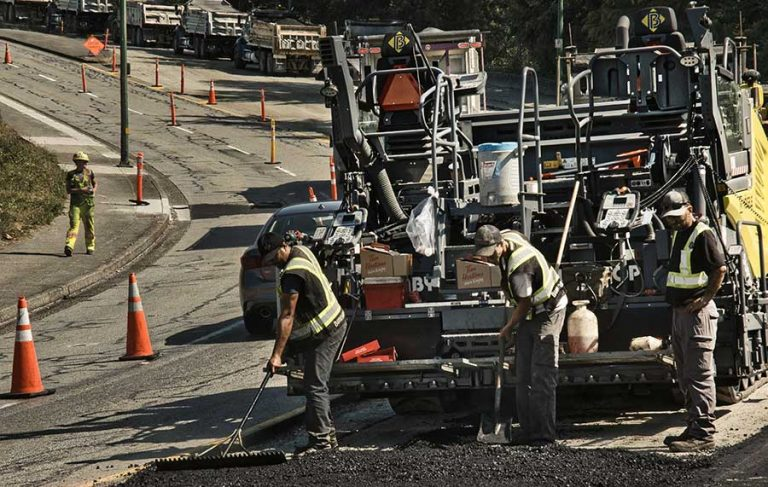 the paving contractors of Burnaby Blacktop in action